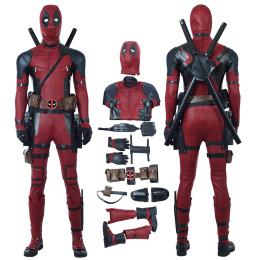 Deadpool Costume Deadpool 2 Cosplay Wade Winston Wilson Deluxe Version Full Set