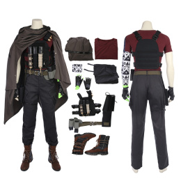 Cable Costume Deadpool 2 Cosplay Nathan Summers Cloak Outfit Men's Halloween Suit Full Set