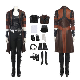 Gamora Costume Guardians of the Galaxy Vol. 2 Cosplay Leather Full Set