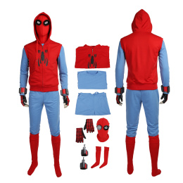 Spider-Man Costume Spider-Man: Homecoming Cosplay Peter Parker Red Cool Outfit
