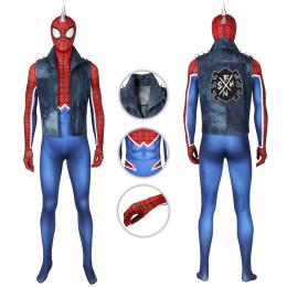 Spider-Punk Costume Mar-vel's Spider-Man (PS4) Cosplay Full Set PUNK ROCK