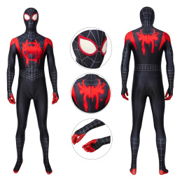 Spider-Man Costume Spider-Man: Into the Spider-Verse Cosplay Miles Morales Full Set