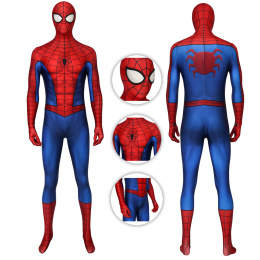 Spiderman Costume Mar-vel's Spider-Man (PS4) Cosplay Full Set 3D Classic Suit (Repaired)