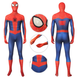 Spider-Man Costume Spider-Man: Into the Spider-Verse Cosplay Peter Parker Full Set