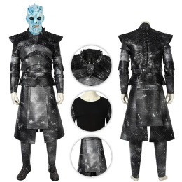 Night King Costume Game of Thrones Season 8 Cosplay Deluxe Version Full Set