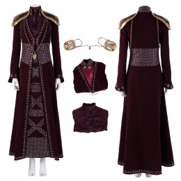 Cersei Lannister Costume Game of Thrones Season 8 Cosplay Elegant Women Outfit