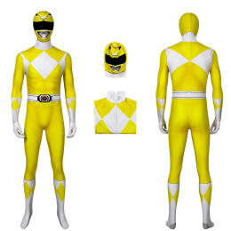 Boy Tiger Ranger Costume Mighty Morphin Power Rangers Cosplay Jumpsuit