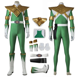 Green Rangers Costume Power Rangers Cosplay Burai High Quality Full Set