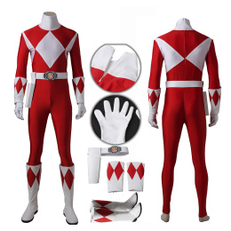 Red Ranger Tyranno Ranger Costume Power Rangers Cosplay Geki Full Set Custom Made