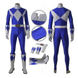 Blue Ranger Tricera Costume Power Rangers Cosplay Dan Full Set Halloween