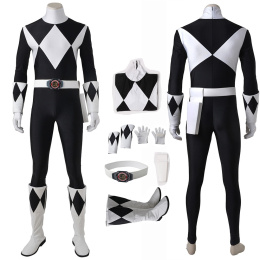 Black Ranger Mammoth Ranger Costume Power Rangers Cosplay Goushi High Quality Full Set
