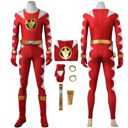 Red Ranger Costume Power Rangers Dino Thunder Cosplay Ryouga Full Set