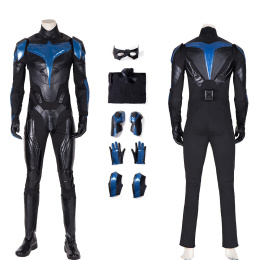 Nightwing Costume Titans Season 1 Cosplay Dick Grayson Jumpsuit