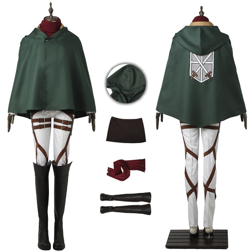Mikasa Ackerman Costume Attack on Titan Cosplay High Quality Full Set