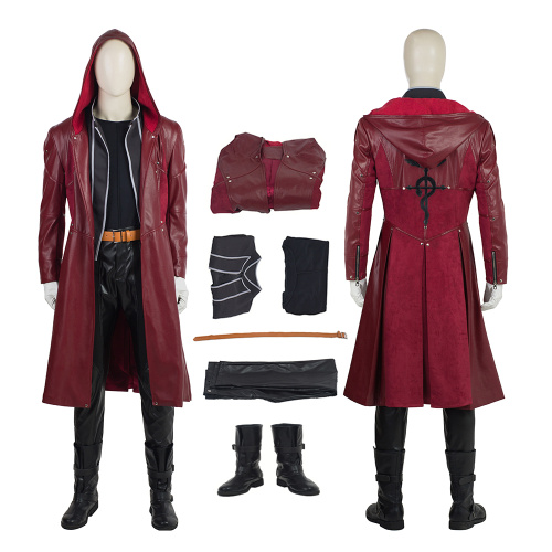 Edward Elric Costume Fullmetal Alchemist Cosplay Trench Coat Full Set Custom Made