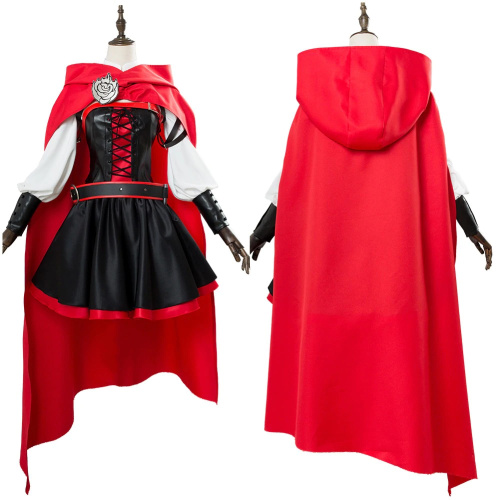 Ruby Rose Rwby Cosplay 3 Season Red Dress Cloak Battle Uniform Costume Anime Costume For Women