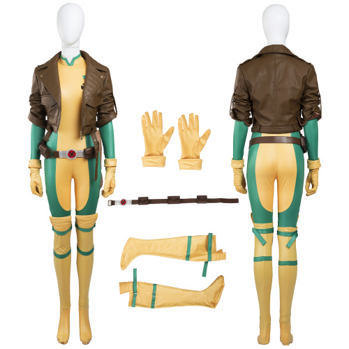 Rogue Costume X-Men Cosplay Anna Marie Girl Pretty Full Set