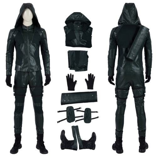 Green Arrow Costume Arrow Season 8 Cosplay Oliver Queen High Quality Full Set