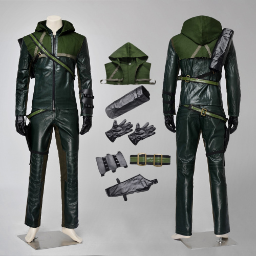 Green Arrow Costume Arrow Season 1 Cosplay Oliver Queen Halloween Outfit