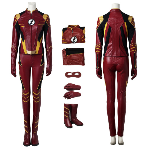 Jesse Quick Costume The Flash Season 3 Cosplay High Quality Full Set