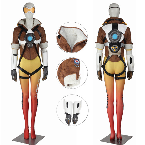 Tracer Costume Overwatch Yellow Cosplay Lena Oxton