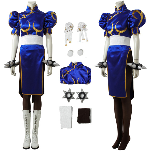 Chun-Li Costume Street Fighter Wiki Cosplay Cute Outfit