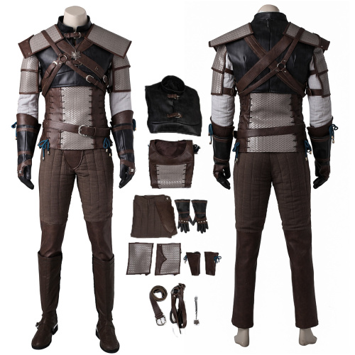 Wild Hunt Geralt of Rivia Costume The Witcher 3 Cosplay High Quality Outfit
