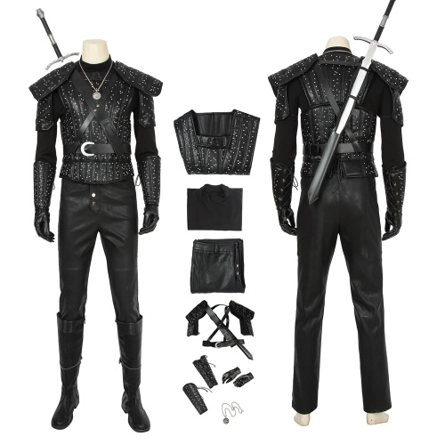 Geralt of Rivia Costume The Witcher 3: Wild Hunt Cosplay White Wolf Full Set