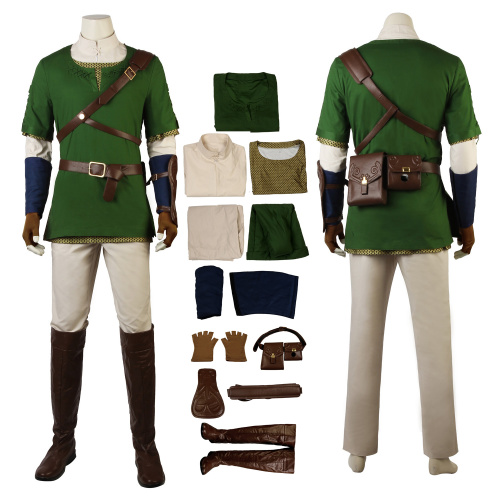 Link Costume The Legend of Zelda: Twilight Princess Cosplay Christmas Outfit