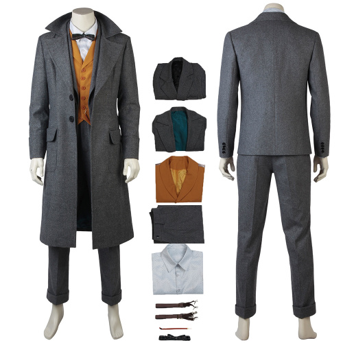Newt Scamander Costume Fantastic Beasts:The Crimes of Grindelwald Cosplay