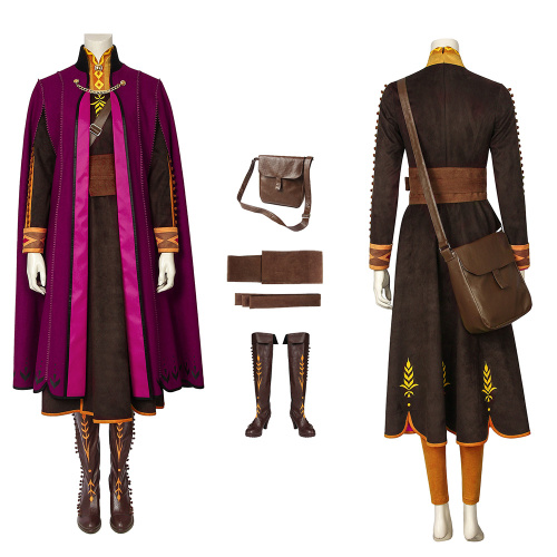 Anna Costume Frozen 2 Cosplay Full Set Good Quality Suit For Christmas