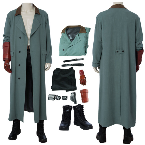 Hellboy Costume Hellboy:Rise Of The Blood Queen Cosplay Anung Un Rama Full Set Coat Halloween
