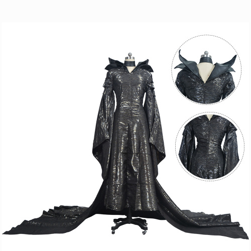 Maleficent Angelina Jolie Costume Maleficent Cosplay Halloween Full Set Black Outfit