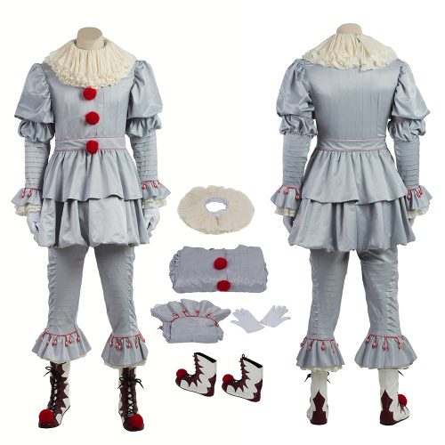 The Dancing Clown Costume 2017 Stephen King's It Cosplay Pennywise Full Set