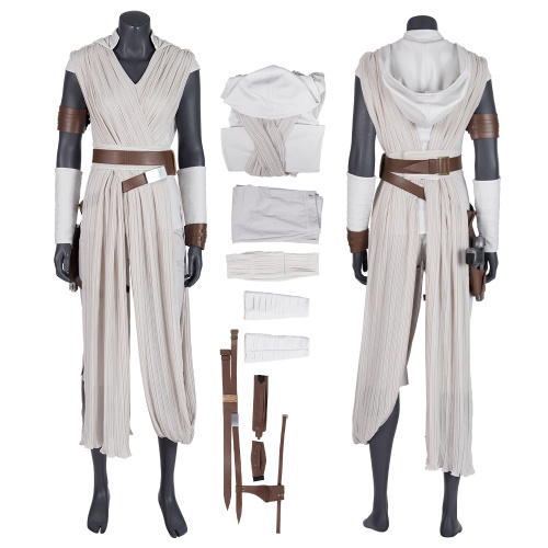 Rey Costume Star Wars: The Rise of Skywalker Cosplay Outfit Deluxe Version