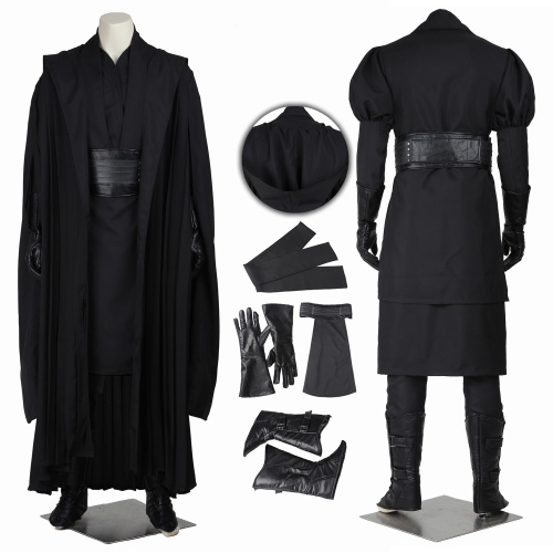 Darth Maul Costume Star Wars Episode I The Phantom Menace Cosplay Black Outfit