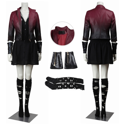 Scarlet Witch Costume Avengers: Age of Ultron Cosplay Wanda Maximoff For Halloween Party