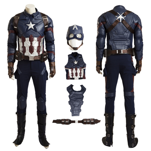 Captain America Costume Captain America: Civil War Cosplay Steve Rogers Full Set