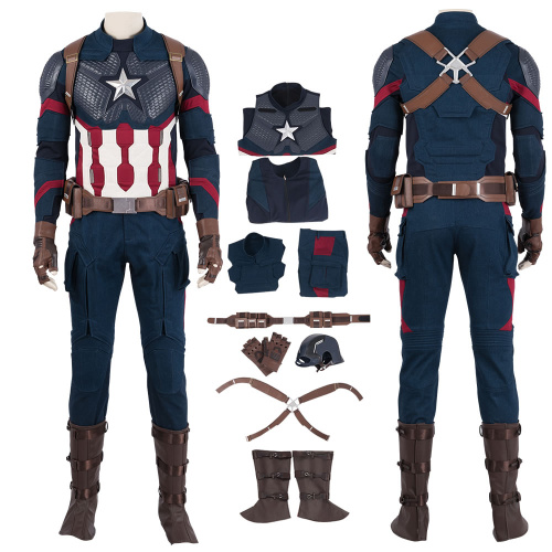 Captain America Costume Avengers 4 Endgame Cosplay Steven Rogers High Quality Outfit