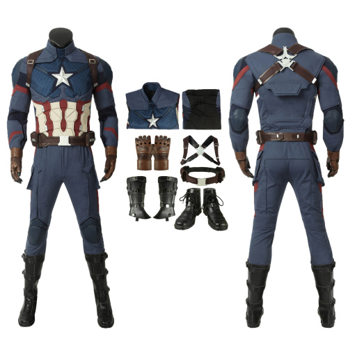 Captain America Costume Avengers: Endgame Cosplay Steve Rogers Full Set Custom Made