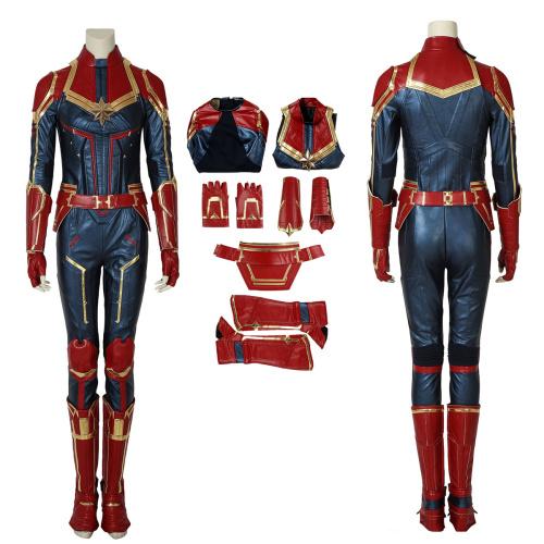 Carol Danvers Costume Captain Marvel Cosplay Deluxe Version