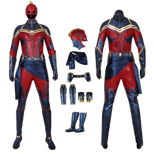 Captain Marvel Costume Avengers: Endgame Cosplay Carol Danvers Full Set