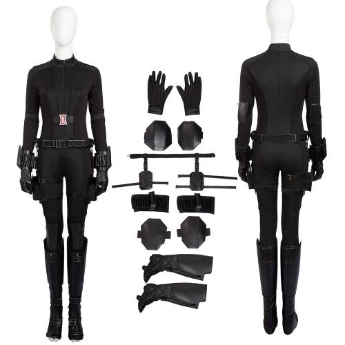 Black Widow Costume Captain America: Civil War Cosplay Natasha Romanoff Full Set Women Halloween