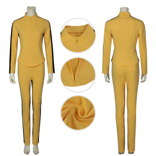 The Bride Costume Kill Bill Vol.1 Cosplay Yellow Clothes