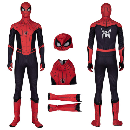 Spider-Man Costume Spider-Man Far From Home Cosplay Peter Parker Full Set Jumpsuit
