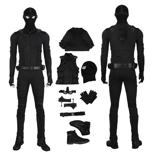 Spider-Man Costume Spider-Man Far From Home Cosplay Peter Parker Black Halloween Full Set