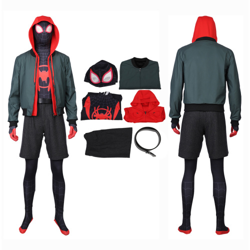 Spider-Man Costume Spider-Man Into the Spider-Verse Cosplay Miles Morales Outfit
