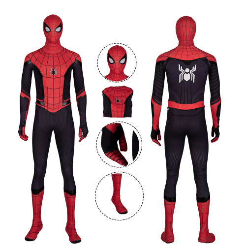 Spider-Man Costume Spider-Man: Far From Home Cosplay Peter Parker Men Red Halloween Outfit