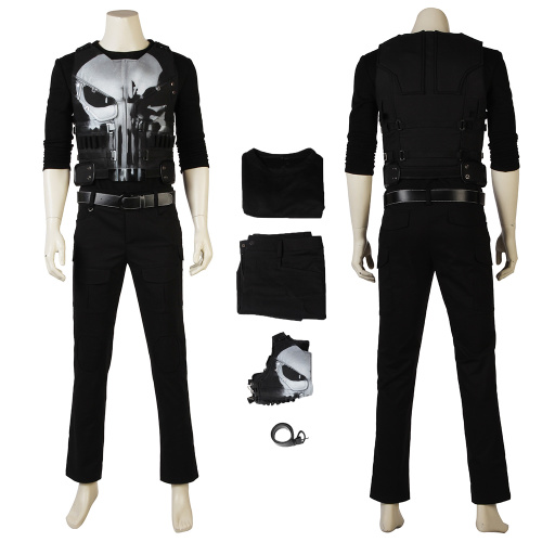 The Punisher Costume The Punisher Season 1 Cosplay Frank Castle
