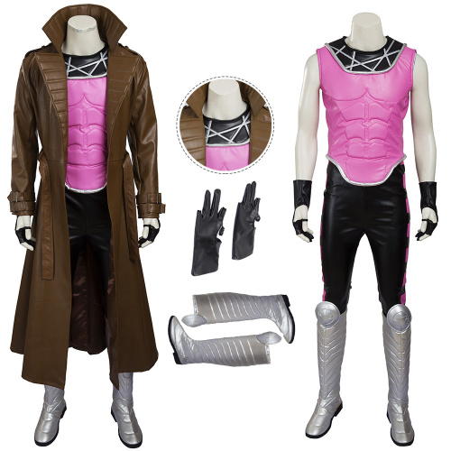 Gambit Costume X-Men Cosplay Remy LeBeau Full Set Halloween